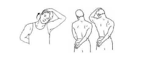 Upper shoulder and neck stretches